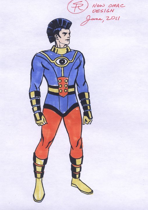 Nice to know I'm not the only one redesigning the DC redesigns. Here's Steve Rude's OMAC if he got the gig. And by the way DC, you should really hire Steve Rude.
