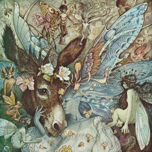enchantingimagery:  Illustration by Brian Froud for A Midsummer Night's Dream. Froud did the concept art for the Jim Henson films, The Dark Crystal (1982) and Labyrinth (1986). I will try to post some concept art for those films when I get the chance. Scan by me from the marvellous book, The Land of Froud (1977).