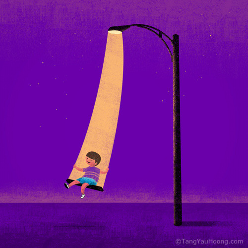lareglisse:  (via graphiceverywhere, Swinging in the Light by TangYauHoong)