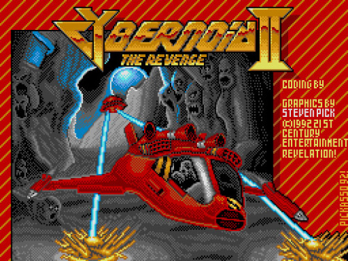 I loved this game when I was a ZX Spectrum enthusiast. I remember the fantastic use of colour when up against the odds of a 16 colour palette and attribute clash. I remember destroying huge alien faces in a celebration of sprite debris. I wrangled this in 1992 on the humble Sam Coupé. Limited colour selection of 16 from a palette of 192. Enjoy!
