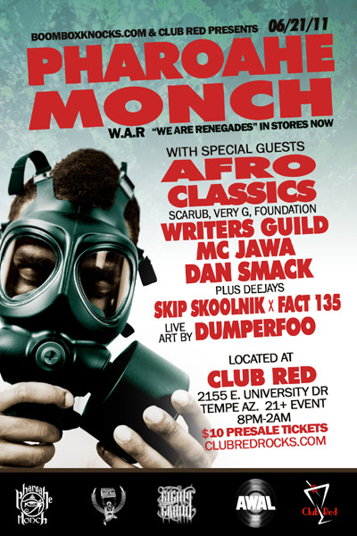 6/21/11 Pharoah Monch!!! don't miss this one