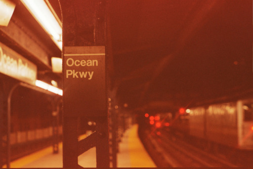 Ocean Parkway. Final destination = beach! Taken with my Pentax K1000 on expired Kodak Gold 200.