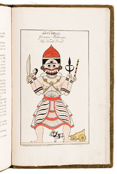 CEYLON—DEMONOLOGY Yakkun Nattannawā.  John Callaway, translator. London, Oriental Translation Fund, 1829.  A Cingalese poem descriptive of the Ceylon system of demonology; to which is appended the practices of a Capua or devil priest … and Kōlan Nattannawā: a Cingalese poem.  First edition, subscriber's copy. Calloway's translations of the ceremonial poems are accompanied by his notes, and by his preface on Cingalese and Buddhist demon worship.