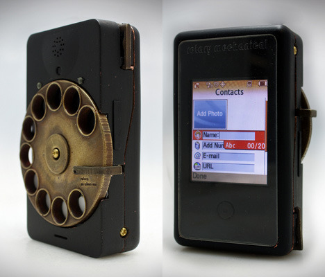 "Rotary Mechanical Smartphone by Richard Clarkson 'New Zealand-based designer/photographer Richard Clarkson has developed a prototype of ""Rotary Mechanical,"" a hypothetical smartphone design that is as much an art object as an exercise in form': ""The rotary mechanical smartphone is based on the idea of incorporating more feeling and life into our everyday digital objects. In modern times these objects have come to define us, but who and what defines these objects? Are we happy with generic rectangles of a touchscreen or do we want something with more tangibility, something with more life, something with more aura?"" More here."