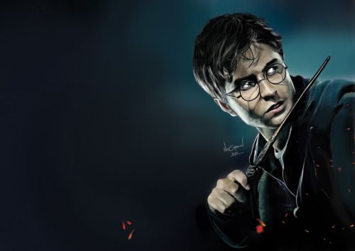 designersof:  Digital Painting of Harry Potter - created in Adobe Photoshop CS5 using my Wacom Graphics Tablet
