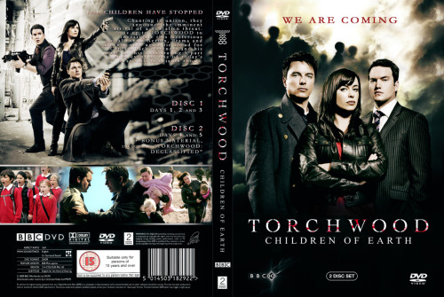 TORCHWOOD: CHILDREN OF EARTH  Re-design for the dvd set of the 5-part series - finish date: July 2009