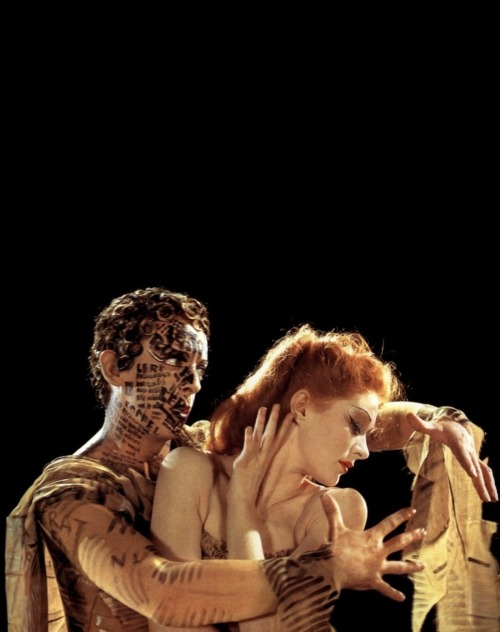 "Moira Shearer & Robert Helpmann in The Red Shoes (1948, dir. Michael Powell & Emeric Pressburger) (via) ""I am often asked why The Red Shoes, of all our films, became such a success in every country of the world. More than a success, it became a legend. Even today, I am constantly meeting men and women who claimed that it changed their lives. This is natural enough for women who were girls at the time, and who were growing up in countries that had been wracked by war. But my friend Ron Kitaj, who was thinking of becoming an art student at the time, has told me the same thing. 'It changed my direction,' he said. 'It gave art a new meaning to me.' These are personal reactions, but I think that the real reason why The Red Shoes was such a success was that we had all been told for ten years to go out and die for freedom and democracy, for this and for that, and now that the war was over, The Red Shoes told us to go out and die for art."" -excerpted from Michael Powell's A Life in Movies"