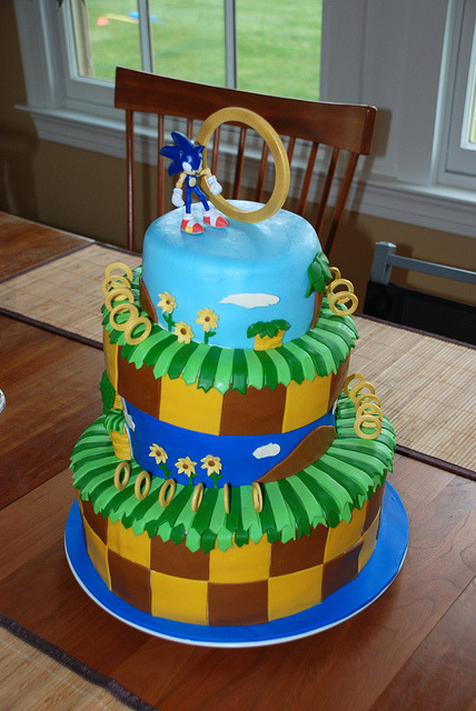 Sonic Cake // By: Tuscan Kitchen Bakery Who wouldn't want a cake like this?
