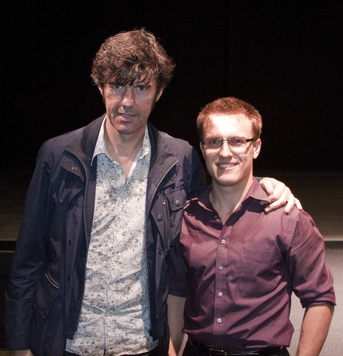 Gratuitous picture of myself… with Stefan Sagmeister. Is it me, or do we both look crazy?
