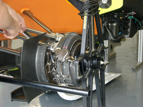 FREIN AVANT by alainqc on Flickr. takes 6 months to make a carbon brake rotor. nuts.