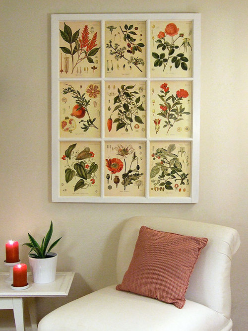 (via Window frame and (free!) botanical illustrations - Crafty Nest)