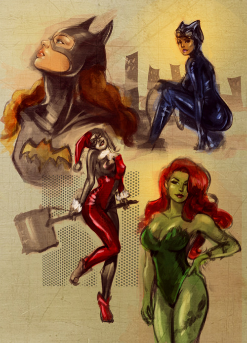 geeksngamers:  Gotham Girls - by Charmaine Lee