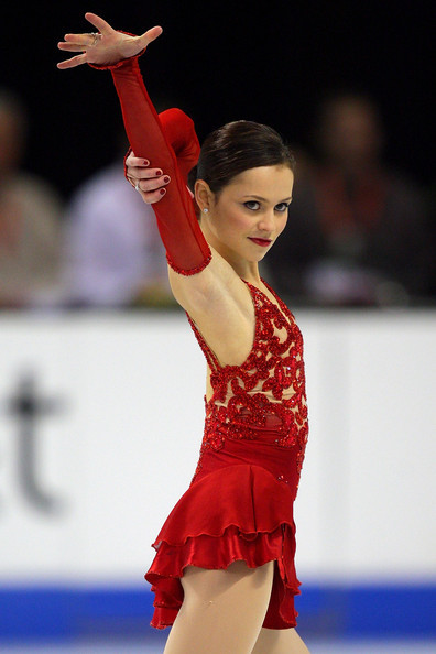 beautiful-shapes:  Sasha Cohen competes in the ladies short program during the 2010 US Figure Skating Championships