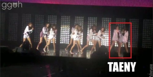 Keke~ TaeNy forgetting their dance routine for the Genie dance break x] vid cr; as tagged