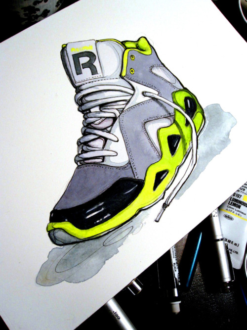 Reebok Kamikaze Illustration by Paperfashion