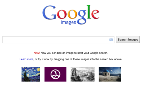 Google now lets you search images with… an image. It's like Goggles only in the browser. Thaaaaat's pretty cool, if you ask us.