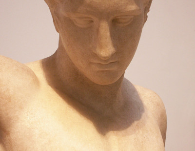 "antique gaze by Mamluke on Flickr.""Westmacott Athlete"" - marble statue of a victorious athlete - Roman copy -1st century CE of a Greek original (Polykleitos?) from 440 BCE"