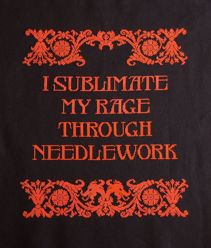 I sublimate my rage through needlework - Radical Cross Stitch
