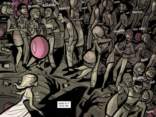 I think this is the largest crowd scene I've done to date. This is a page from my series Lily of the Valley, done for DC Comics' digital line of comics.If you're interested in seeing more, you can read the first issue completely free at: http://www.comixology.com/digital/series/5862