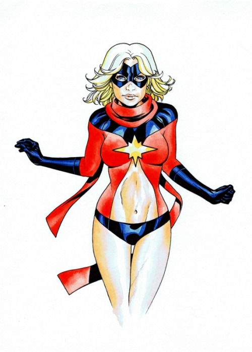 comicknockouts:  Ms. Marvel by Mike Mckone