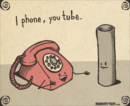 "gunsandrobots:  juliaroy:  ""I phone, youtube."" - A-geek-able. (h/t @mona)  THIS."