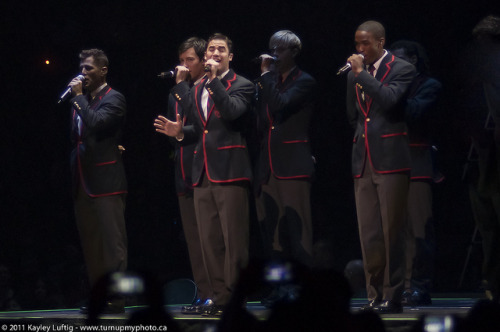 turnupmyphoto:  The Warblers 162 of 365 on Flickr. Via Flickr: Had the pleasure of seeing the Glee Live Tour when they came to Toronto. So much fun, so much energy. I had such a blast and managed to sneak in my D90 with my 85. The shots aren't great by any means, but some of them turned out alright. Taken June 11, 2011