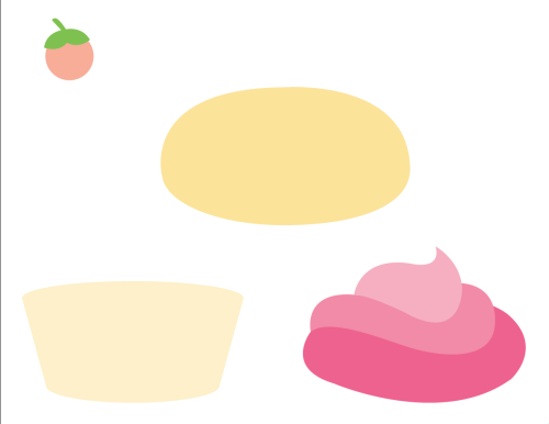 Working on some build your own cupcake stickers for my good friend Miss Titty Perkin's branding.