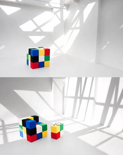 Rubik's Cube chair