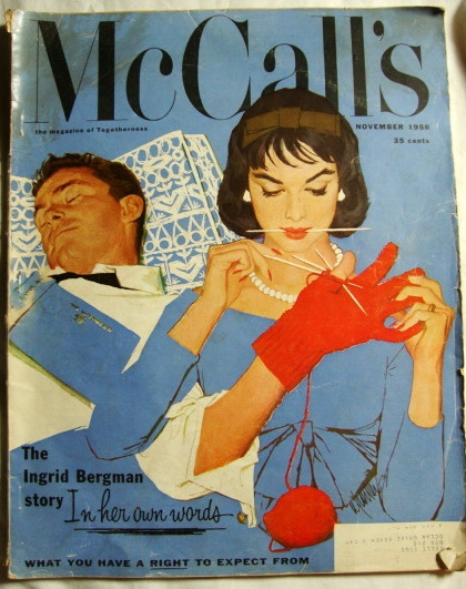 Al Parker McCall's Cover, November 1958. I'd love to put together an Al Parker book, it would be a shame if he was forgotten. TGTBF