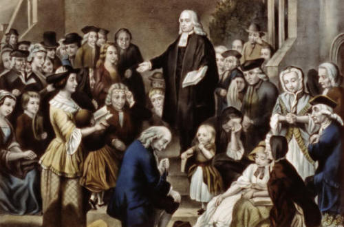 """The best of it is, God is with us."" Happy Birthday John Wesley."