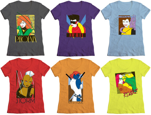 Mighty Fine's 80's Fashion X-Men T-shirts: NOW AVAILABLE IN LADIES' SIZES! As previously featured on FTFCS last month, Mighty Fine released this gorgeous collection of Nagel-esque t-shirts featuring the ladies of X-Men, all of which are now available in women's sizes and in a larger array of t-shirt colors! Check out the selection below: Fashion Phoenix t-shirt, $25 [link] Fashion Jubilee t-shirt, $25 [link] Fashion Shadowcat t-shirt, $25 [link] Fashion Storm t-shirt, $25 [link] Fashion Mystique t-shirt, $25 [link] Fashion Rogue t-shirt, $25 [link] Attention Fashion Tips From Comic Strips subscribers:Between now and July 22, 2011, you can get 10% off your entire Mighty Fine order if you use the coupon code FTFCS. Happy shopping! :D