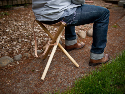Folding Tripod Camp Stool: DIY Tutorial by Wood&Faulk