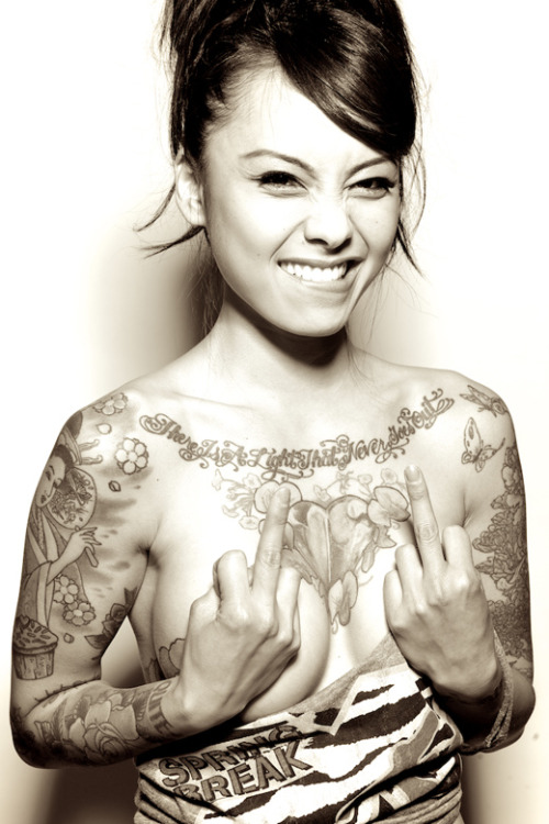 Levy Tran by photographer John Agcaoili Love the flow of ink on her canvas