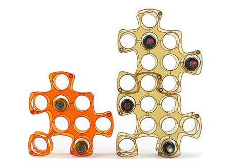 Puzzle Wine Rack—-so cool