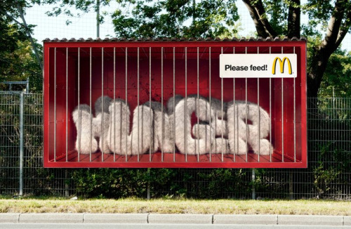 McDonalds Outdoor Ad - Hunger, Please Feed!