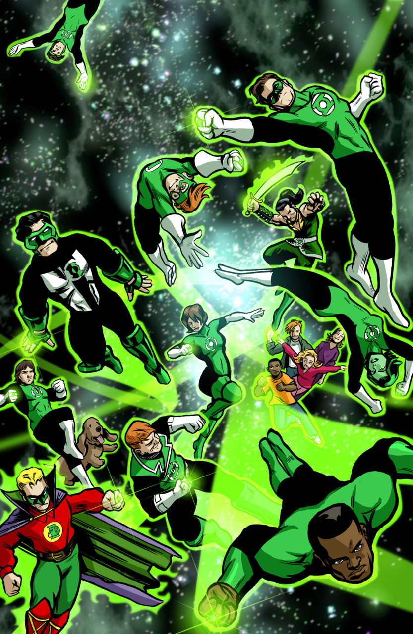 Put a ring on it In the new movie Green Lantern, Hal Jordan is the only human to wield a power ring. In the comics however, rings are a little easier to come by. Click through for the interactive version.