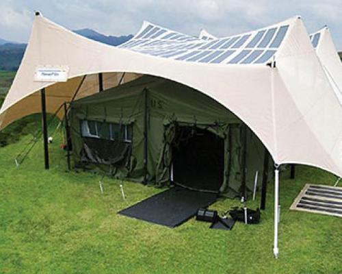positivelypersistentteach:  mothernaturenetwork:  Solar-powered tents are just one way the U.S. military is going green.6 green things the U.S. military is doing  Awesome.