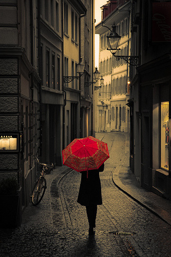 Rainy day in Lucerne, Switzerland (by Pensiero)