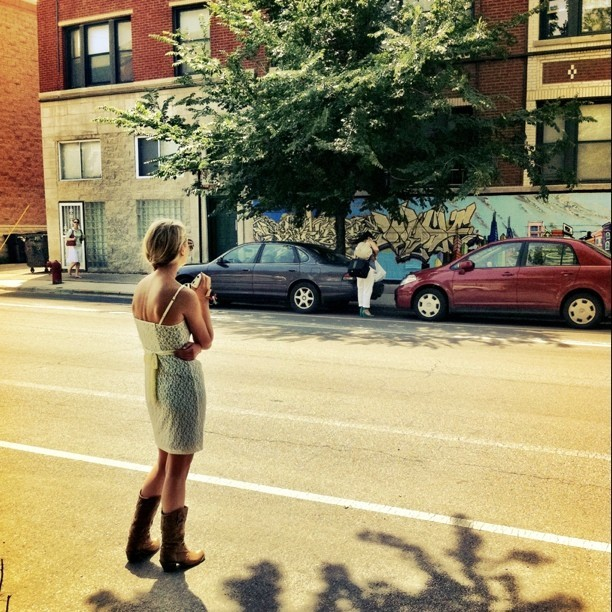 A #cowgirl in #Chicago. #fashion (Taken with instagram)
