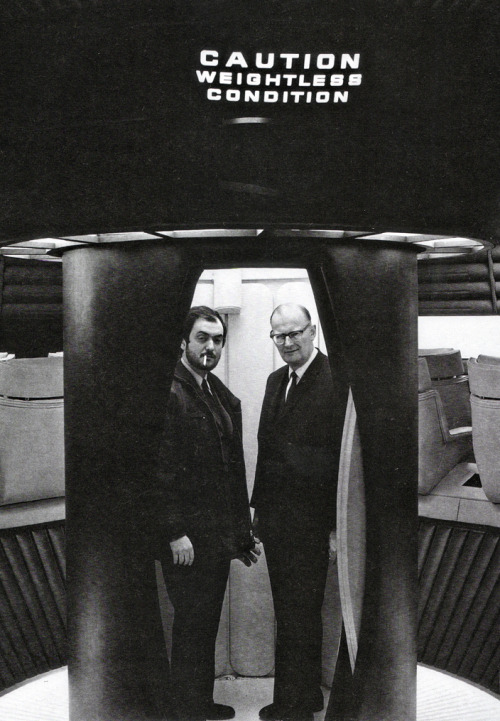 Kubrick and Clarke on the set of 2001