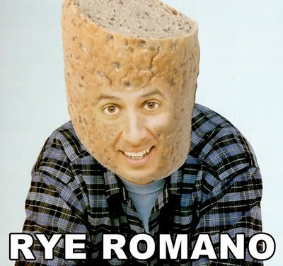 Tomorrow: Ray Romano. Above: Rye Romano. Missing: Jelly Seinfeld, Norm McDonalds, George Lopez Dispenser. Others?