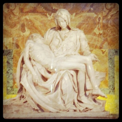 Vatican Pieta; Vatican City; August 2010 (Taken with instagram)