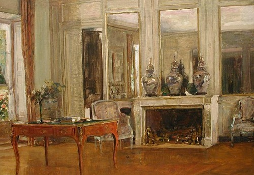 Walter Gay The Salon at Chateau de Fortoiseau Late 19th - early 20th century