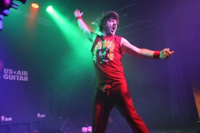 Thank you, Kansas City! Kansas City's air-guitar champion is … still, Mean Melin My zipper (or lack thereof) in this photo is frightening. And — for the record — not intentional!