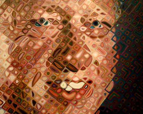 Bill Clinton by Chuck Close (detail)National Portrait GalleryWashington, DC11 June 2011