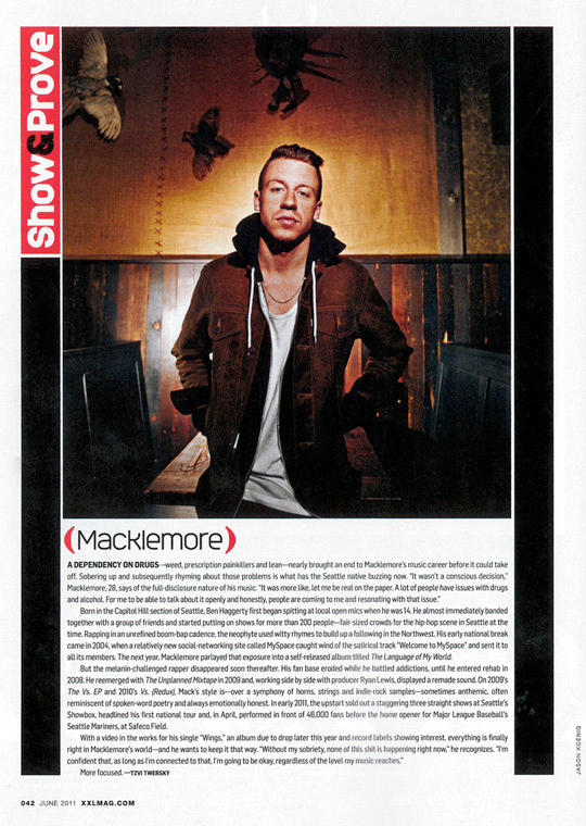 Extra! Extra! Read all about him! Macklemore is featured in XXL's June edition, which covers drug addiction, sold out shows and the rapper's opening night performance for the Mariners.   Read his take on the article here, then catch Macklemore and Ryan Lewis live on Sunday, September 4th at Bumbershoot 2011!