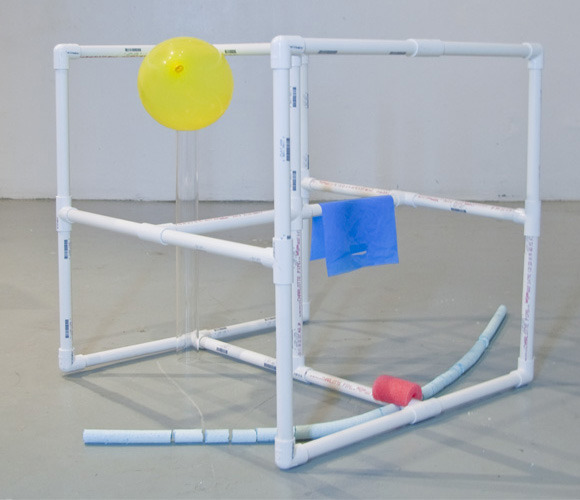Clinic., 2011.  PVC pipe, plexiglass, polyethylene foam, plastic bag, plaster, latex balloon.