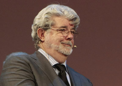 "George Lucas looks cocky because he remembers that old wives tale: ""The bigger the neck…"""