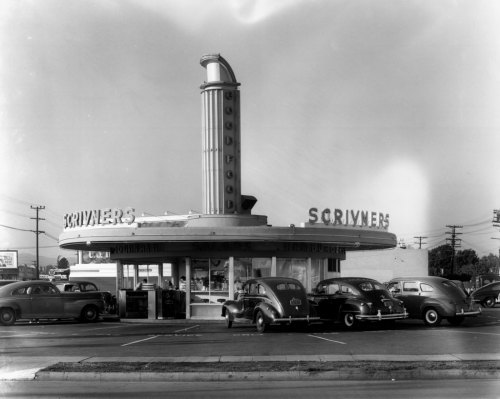 Scrivner's Drive-In restaurant in Los Angeles, CA - c. late 1930s