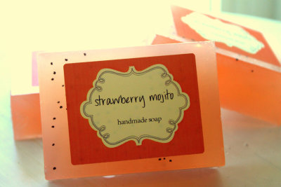 """Strawberry Mojito"" Soap by orangethyme"